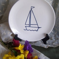 sailboat plate