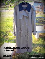 CHAPS trench coat, 40R