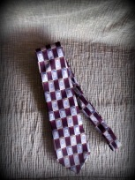 neck tie, brown and purple