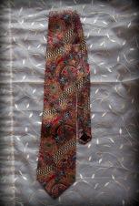 neck tie, paisley