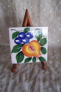 Italian painted tile