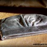 clutch purse, metallic silver