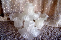 frosted ruffled light covers