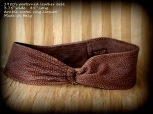 vintage,ladies belt, soft leather, faux reptile pattern, brown, ring closure