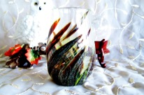 swirl glass xsm vase
