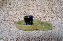hand thrown candlestick holder,signed