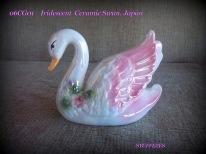 Iridescent Ceramic Swan
