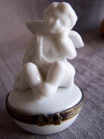 porcelain cherub box