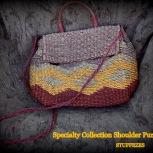 straw purse, hand held or shoulder strap, natural fiber, not lined