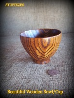 faceted wood bowl