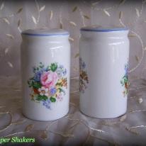 ceramic salt & pepper shakers, floral bouquet