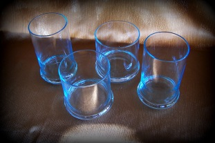 sky blue drink glasses