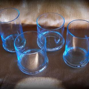 sky blue drink glasses
