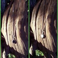 3-1-necklace silver, reversible pendant
