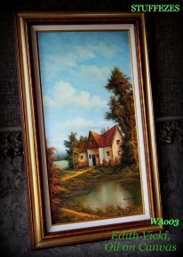 oil on canvas by Edith Vicki, country cottage
