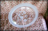 frosted floral pattern serving plate
