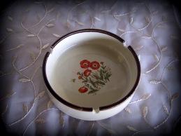 Orange Poppies ashtray/dish