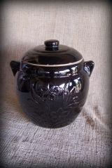 Unmarked Dark Brown Biscuit Jar