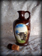 Hand painted Bison Carafe