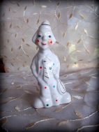 Spotted Clown Figurine