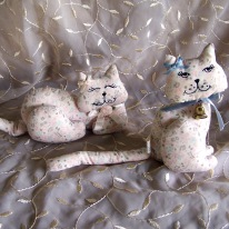 two fabric cats