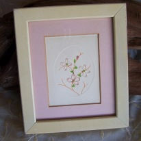 pink flower string art