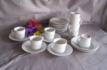 all white pretend play tea set