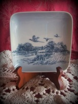 Flying Pheasants square plate