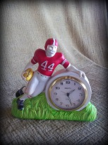 football player plastic clock