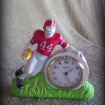 football player plastic clock