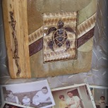 natural fiber tribal turtle scrapbook