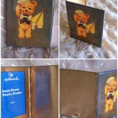 1-sailor bear -metal fold up photo frame