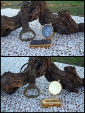 13-mens set,gldtn compass,Sam Adams opener,bill money clip